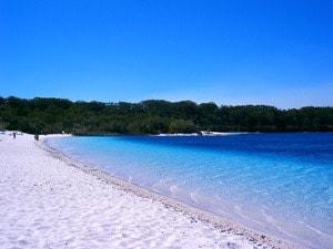 Swim and sunbake at Fraser Island's Lake McKenzie on the Fraser Explorer Premium Day Tour