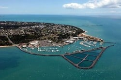aerial image of hervey bay boat harbour