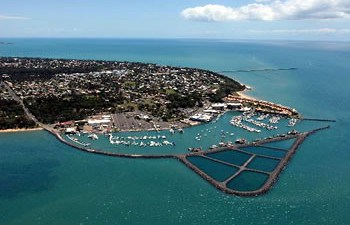 Aerial view of Hervey Bay boat harbour and marina