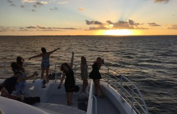 Relax and enjoy the view on Whalesong's seafood sunset cruise
