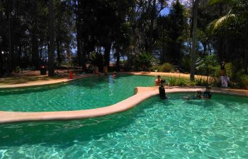 cool off in the many pools at Kingfisher Bay Resort