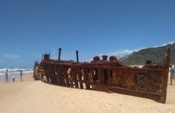 Visit the Maheno Shipwreck on Fraser Island on the Fraser Explorer Premium Day Tour