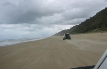 Cruise the 75 Mile Beach highway on this Fraser Island Hummer tour