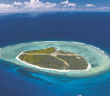 Pristine Lady Elliot Island from the air