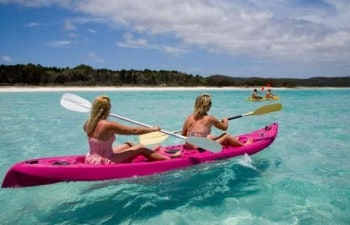 Enjoy kayaking, swimming and snorkelling on the Fraser Island Remote Tour