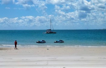 Stroll along the deserted beaches of Fraser Island on this jet ski tour Hervey Bay