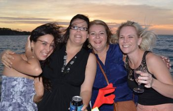 Relax with friends aboard Whalesong's seafood and sunset cruise
