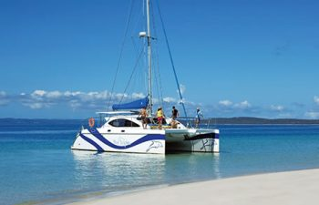 Luxury yacht, Blue Dolphin is your carriage on the Champagne Sunset Sail cruise from Hervey Bay