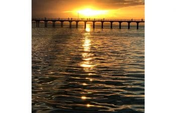 Relax and unwind with canapes and complimentary glass of champagne on the Milbi Sunset Cruise around Hervey Bay