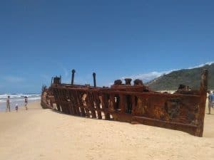 Visit the Maheno Shipwreck on Fraser Island on the Fraser Explorer Premium Day Tour